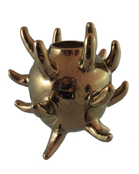 Bronze-Hued Corso Vase