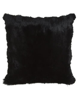 "Adrienne Landau Rabbit Pillow, 20""Sq."