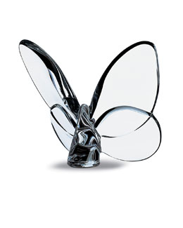 "Baccarat ""Lucky"" Butterfly, Clear"