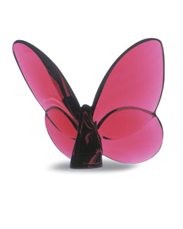 "Baccarat ""Lucky"" Butterfly, Ruby"