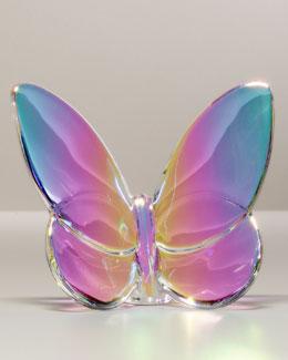 """Baccarat """"Lucky"""" Butterfly, Irise Iridescent"""