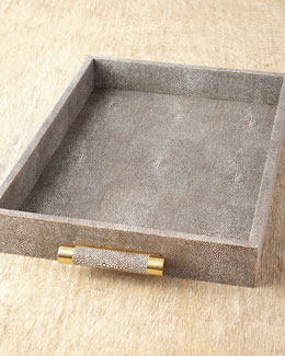 AERIN Shagreen Rectangular Tray