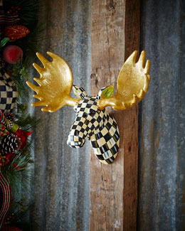 MacKenzie-Childs Small Courtly Check Moose