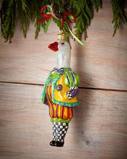 MacKenzie-Childs Goosetav Christmas Ornament
