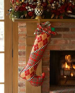 MacKenzie-Childs Gala Christmas Stocking