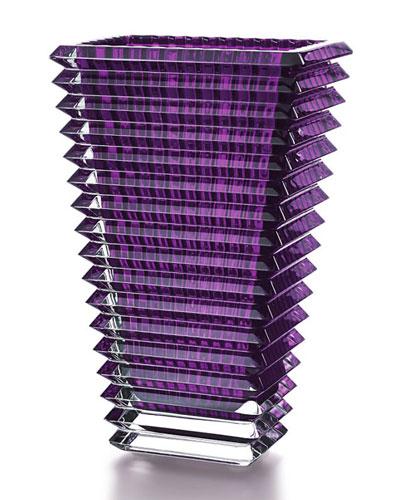 Large Purple Rectangular Eye Vase