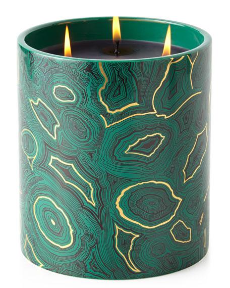 Fornasetti Triple-Wick Malachite Candle