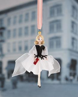 De Carlini Lady in Black & White Christmas Ornament