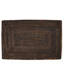 Each Rattan Rectangular Placemat