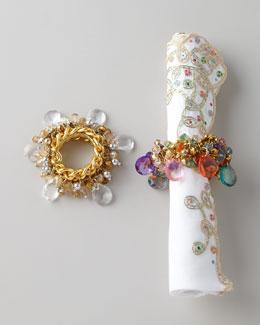 Four Versailles Napkin Rings