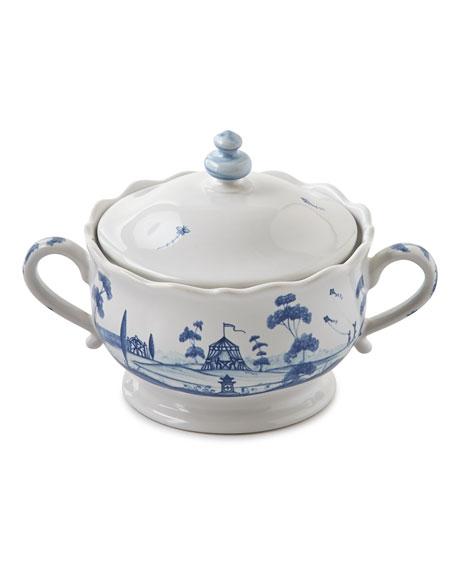 Country Estate Delft Blue Sugar Bowl