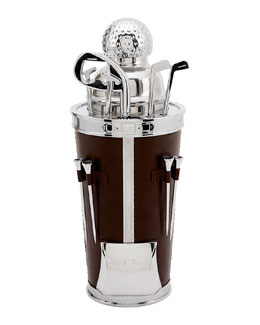 Golf Cocktail Shaker with 12 Pieces