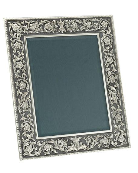Medicea Sterling Silver Floral Frame