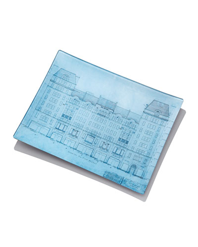 Bergdorf Goodman Blueprint Tray