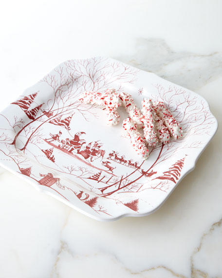 Juliska Country Estate Winter Frolic Santa's Cookie Tray