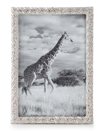 Deco Twist Pave Platinum-Plated 8 x 10 Picture Frame
