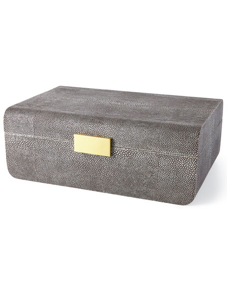 Large Chocolate-Shagreen Box