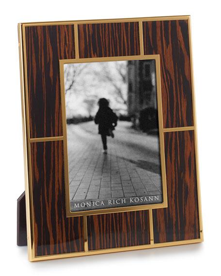 """High-Gloss Macassar Wood 5"""" x 7"""" Picture Frame"""