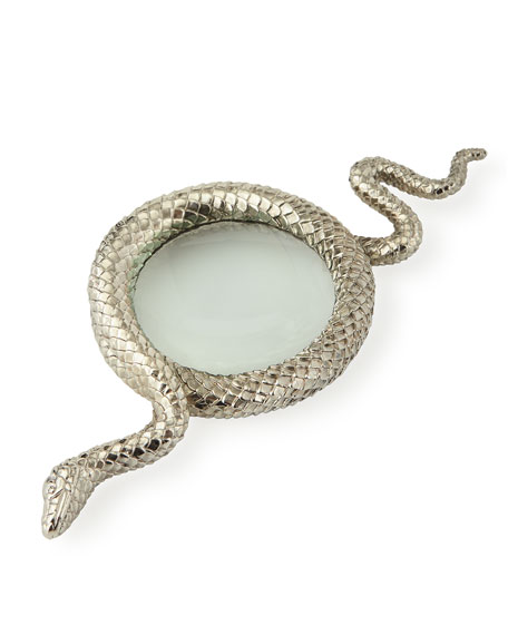 Snake Large Platinum-Plated Magnifying Glass