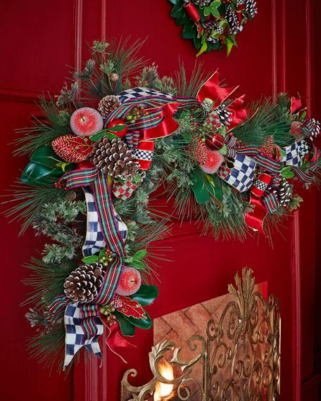 Mackenzie Childs Christmas.Courtly Christmas Garland