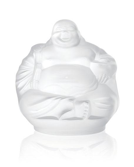 Lalique Happy Buddha Figurine