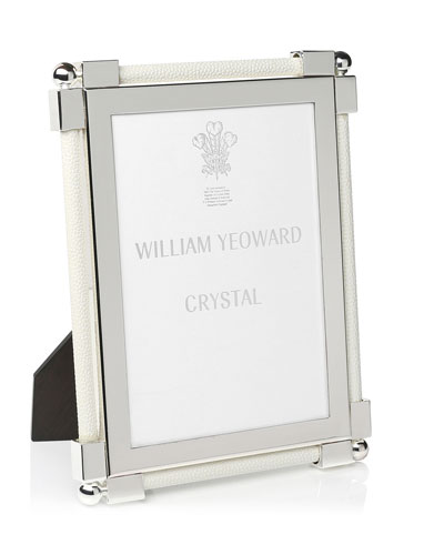 Classic Shagreen White 5 x 7 Picture Frame