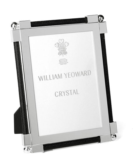 """Classic Shagreen Black 5"""" x 7"""" Picture Frame"""