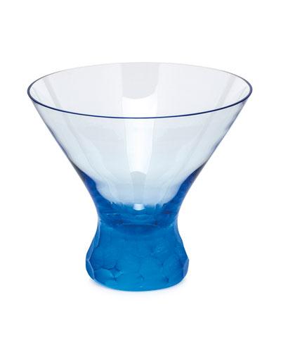Aquamarine Pebbles Stemless Martini