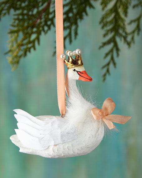 Cody Foster & Co Hearldry Swan Christmas Ornament