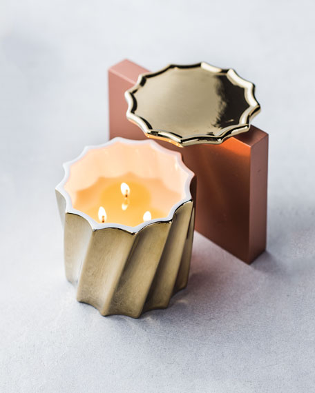 Golden Fluted Candle