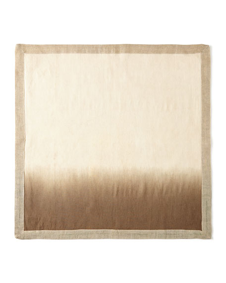 Natural/Brown Dip Dye Napkin