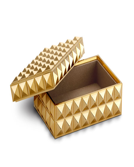 Pyramide Gold Small Rectangular Box