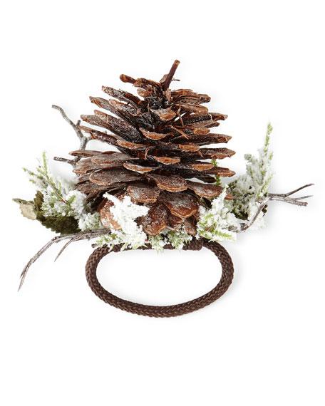 Deborah Rhodes Winter Pine Cone Napkin Ring