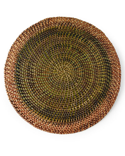 Shaded Rattan Round Placemat