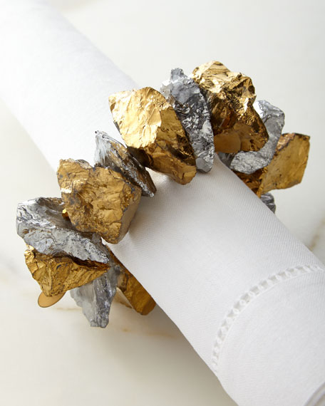 Joseph Williams Crystal Nuggets Napkin Ring