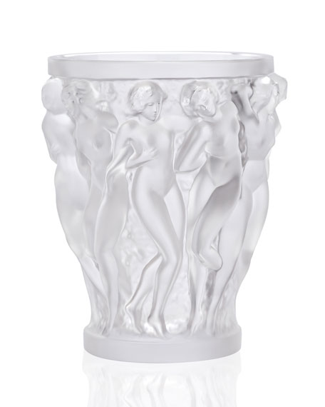 Bacchantes Small Clear Vase