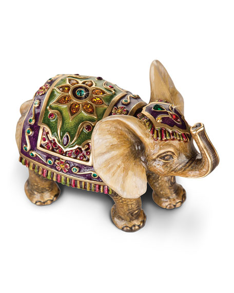 Small Tapestry Elephant Figurine