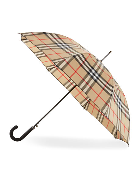 Burberry Regent Walking Umbrella, Camel