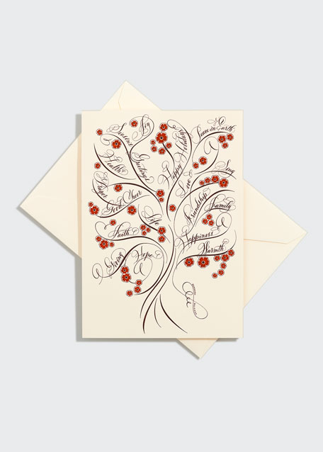 "One ""Tree of Life"" Holiday Card"