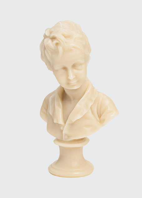 Image 1 of 1: Alexandre Bust Candle - Stone Boy