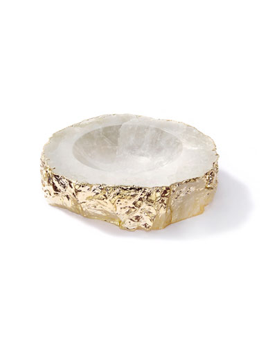 Casca Crystal Bowl  Gold