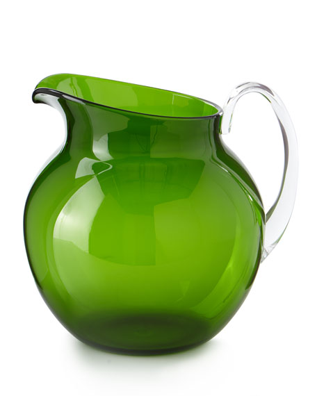 Palla Transparent Acrylic Pitcher, Green