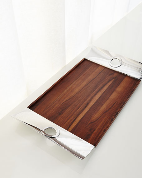 Oh De Christofle Rectangle Tray with Wood