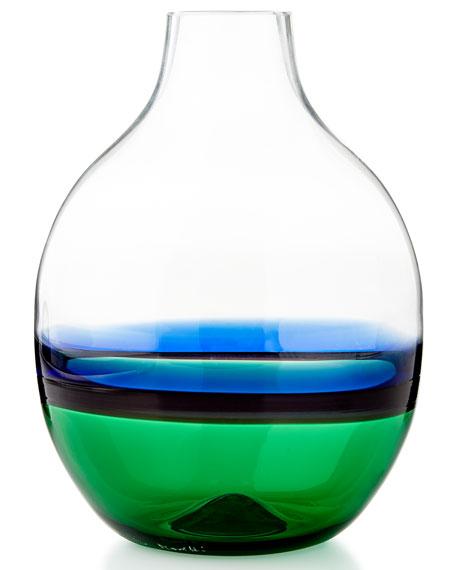 Carlo Moretti Glass Vase Greenblue