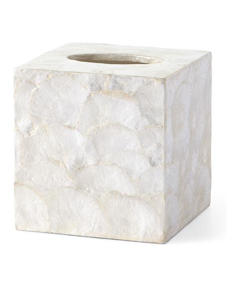 Andria Capiz Tissue Box Cover