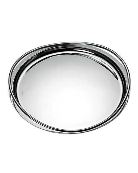 Christofle Vertigo Large Round Tray