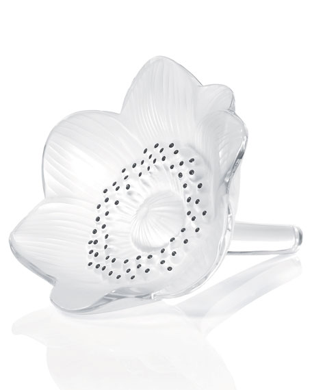 Lalique Anemone Flower Sculpture
