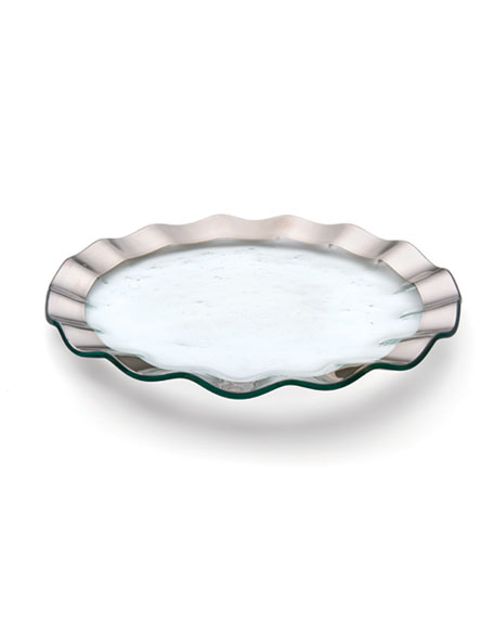 Annieglass Ruffle Platinum Buffet Plate