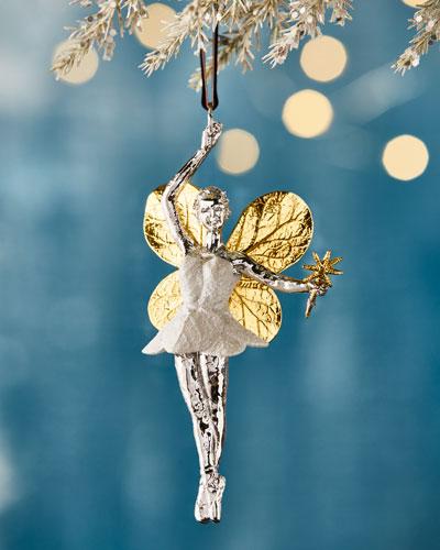 Botanical Leaf Fairy Christmas Ornament