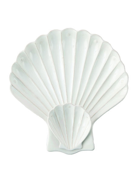 "Berry & Thread Whitewash ""Shell"" Appetizer Server"